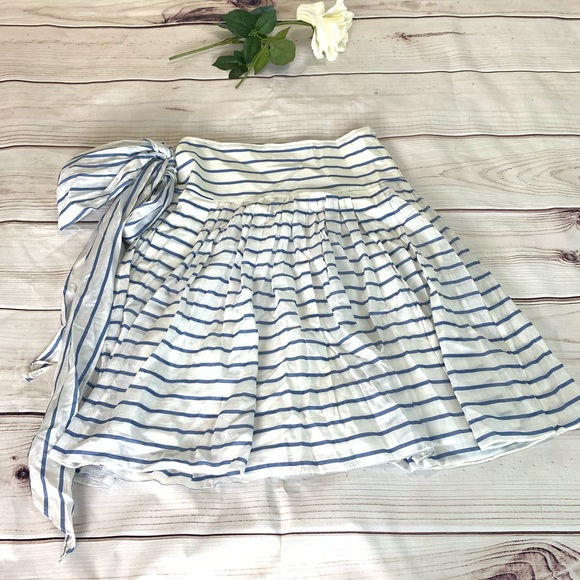Zara Dresses & Skirts - Zara Striped button waist pleated midi skirt